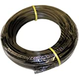 "ATP Value-Tube LDPE Plastic Tubing, Black, 1/8"" ID x 1/4"" OD, 100 feet Length"