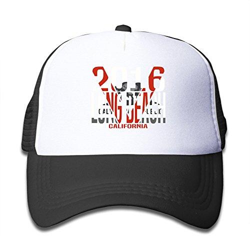 youth-long-beach-california-sports-kids-snapback-hat-baseball-cap-black