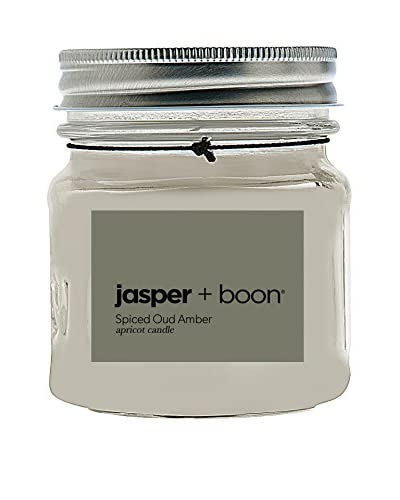 Bluewick Candles 8-Oz. Spiced Oud & Amber Jasper + Boon Mini Mason Candle