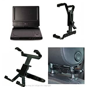 Buybits Portable DVD Car Headrest Mount fits the LG DP271 Tablet DVD Player