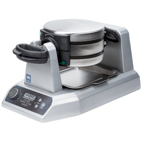 Waring Commercial WWCM200 Waffle Cone Maker, Double free shipping commercial non stick 110v 220v electric 4pcs round waffle maker baker iron machine