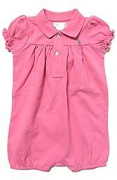 Ralph Lauren Baby Girls\' Onesie 1 Piece (9 Months, Hot Pink / Green Pony)