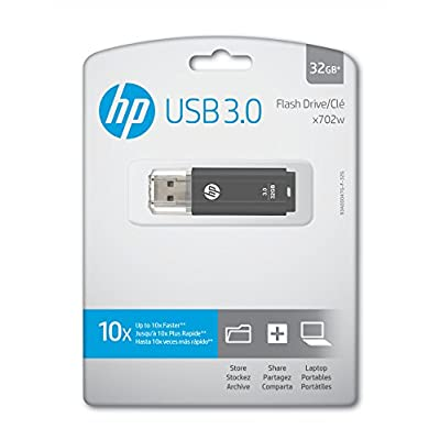 HP x702w 32GB USB 3.0 Flash Drive - Speed Approximately 10X Faster Than USB 2.0 - P-FD32GHP702-GE