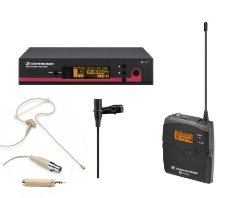 Sennheiser Ew Wireless Lavalier Microphone System, Ew112G3 A (516-558 Mhz) True Diversity Rack-Mount Wireless Microphone System With Samson Se10T Headset Microphone