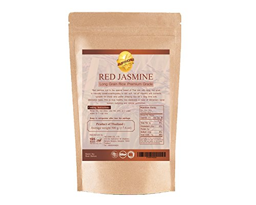 Supthong Long Grain Brown Red Jasmine Rice (17.6 Oz.) (Persian Blue Popcorn compare prices)