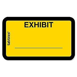 Tabbies TAB58090 Legal Exhibit Labels, Exhibit,1.63 in. x 1 in.,252-PK,Yellow