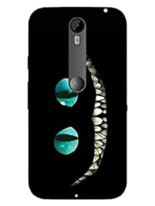 Scary Cat - Black Cat - Hard Back Case Cover for Moto X Style - Superior Matte Finish - HD Printed Cases and Covers