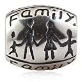 Happy Family Authentic 925 Sterling Silver Bead Fits Pandora Chamilia Biagi Troll Charms Europen Style Bracelets