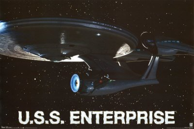 (22x34) Star Trek (U.S.S. Enterprise) TV Poster Print