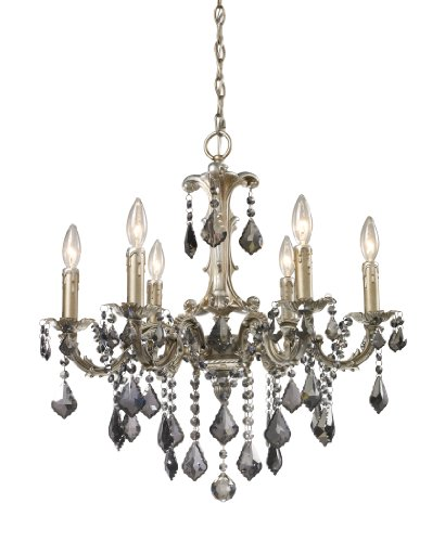 B004LWOK2M Elk 15046/6 Marseille 6-Light Chandelier In Weathered Silver