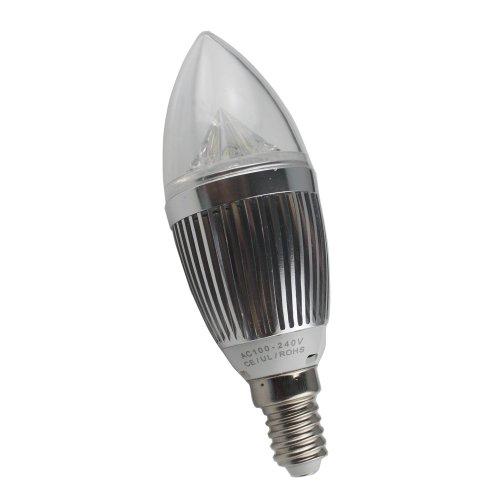 Generic 100V-240V 5W Led Standard E14 Ceiling Cabinet Aluminum Candle Light Lamp Bulb Downlight Day White Pack Of 10