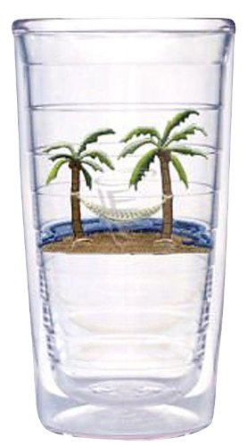 Tervis Tumbler Palm and Hammock 16-Ounce Double Wall Insulated Tumbler, Set of 4
