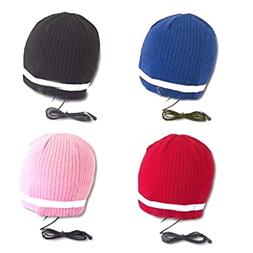 Musicell Knitted Beanie Hat With Headphones Hat Earphones Hat Headset I-Hat Color Blue Black Pink Red Optional Or Black Default (Medium - One Size Fits Most)