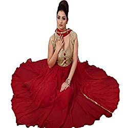 Rozdeal Women Georgette Salwar Suit Dress Material (Rdhp121-1007 _Maroon _Free Size)