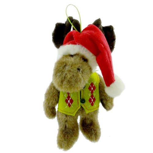 Boyds Bears Plush ST. NICKELMOOSE ORNAMENT 4014686 Christmas Moose Santa New