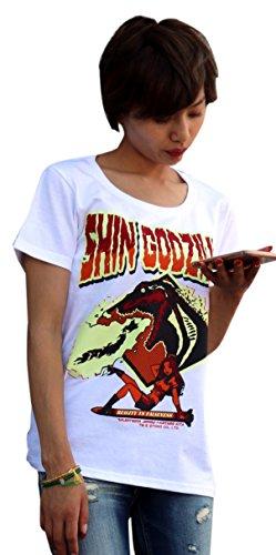 怪獣Tシャツ シン・ゴジラ 白 サイズ:XL