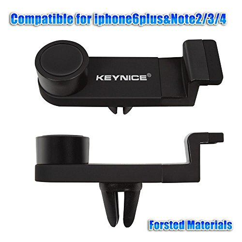 Keynice Cell Phone Car Mount Holder, CE&RoHS&SGS Certified Air Vent car Mount Cradle for iphones 6/6Plus/5s/5/4s/4, Universal Car Mount For Smartphones Samsung Galaxy S6/ S5/S4/S3, Samsung Galaxy Note2/3/4, HTC One, Nexus 4, Lg Nexus 4, Nokia Lumia and all smartphone,P/N:078