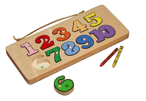 Picture of Damhorst Toys number puzzle (B003TXP6H2) (Pegged Puzzles)