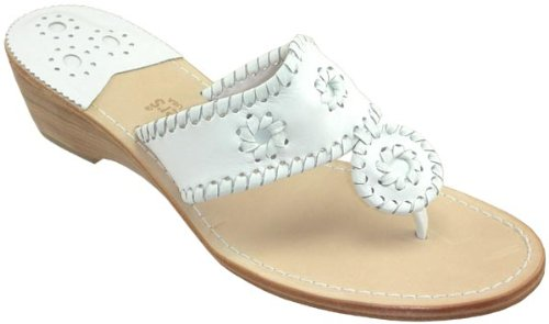 89df6bf846a40 Jack Rogers Navajo Mid Wedge Women s White Leather Thong Sandals Sale Jack  Rogers Navajo Mid Wedge. Comfort and style walk foot in foot in these time  tested ...