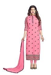 Monika Silk Mill Presents Pink Designer Dress Material