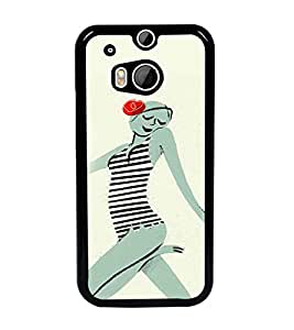 PrintDhaba Crazy Girl D-2884 Back Case Cover for HTC ONE M8 EYE (Multi-Coloured)