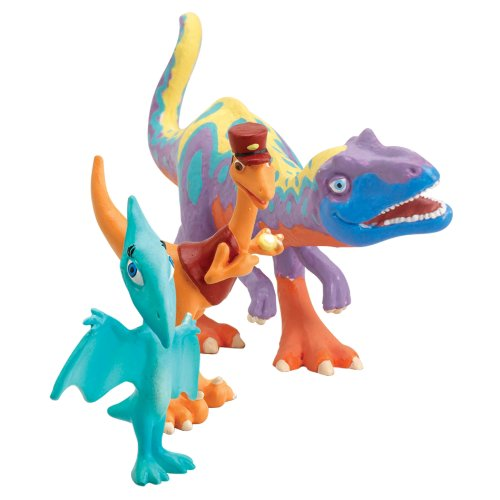 Learning Curve Dinosaur Train Collectible Dinosaur 3 Pack - My Friends Are Therapods: Alvin, Mr. Conductor And Shiny