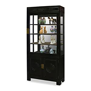 40in longevity design elmwood china cabinet