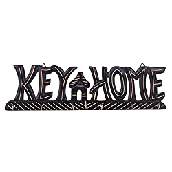 Beautiful Wooden Wall Hanging Key holder in KEY HOME Shape