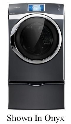 Samsung DV457EVGS 7.5 Cu. Ft. Electric Front Load Dryer with Smart Control and Touch Screen LCD, Neat White