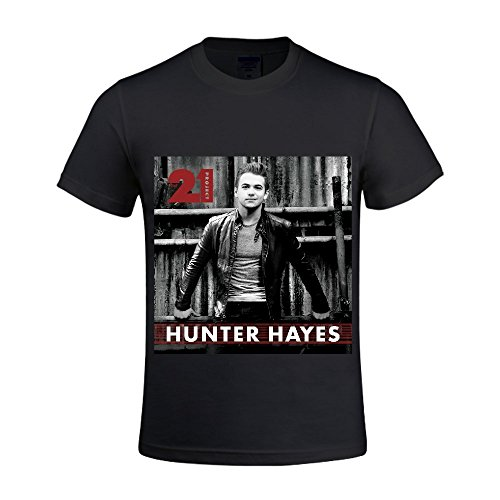 Hunter-Hayes-the-21-project-Men-T-Shirts-Crew-Neck-Music