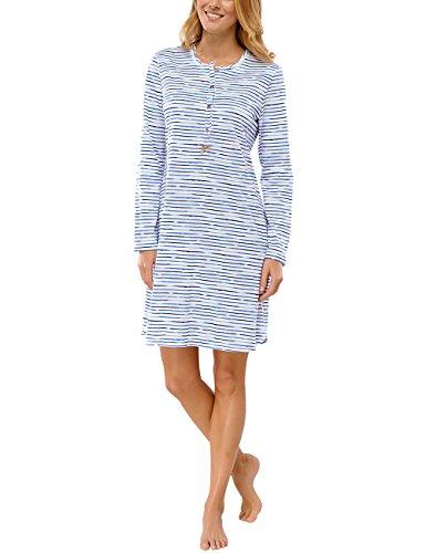 Schiesser Damen Nachthemd Sleepshirt 1/1 Arm, 95 cm, Gr. 38, Beige (naturweiss 412)