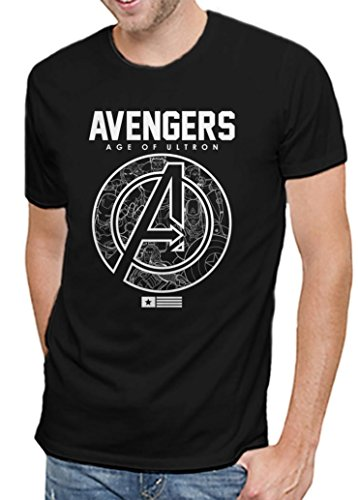 Marvel Comics Avengers Age of Ultron Mens Black T-shirt