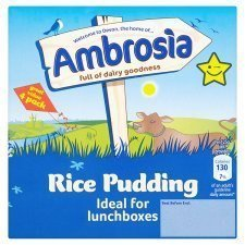Ambrosia Creamed Rice Pudding 4 X 125G by Premier Foods (Creamed Rice compare prices)