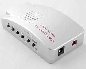 Convertidor AFUNTA PC a TV Video, VGA a RCA, color plata.