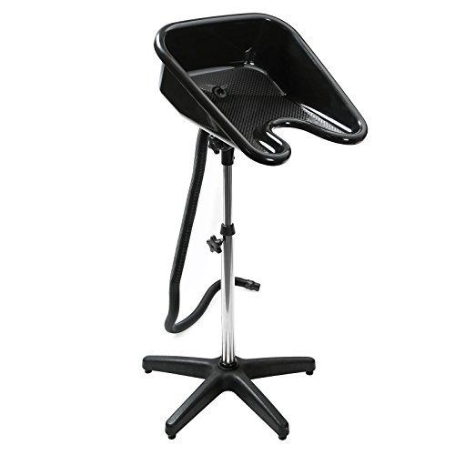 Saloniture Portable Salon Basin Shampoo Sink with Drain - Black - Adjustable Height (Hair Washing Portable compare prices)