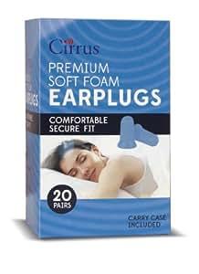 Cirrus Premium Soft Foam Earplugs - 20 pair