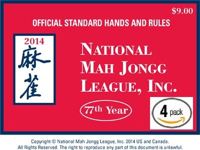New National Mah Jongg League 2014 Scorecard - Large Print (4 Pack)