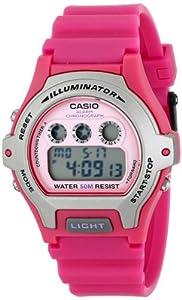 Casio Women's LW-202H-4AVCF Illuminator Digital Display Quartz Pink Watch