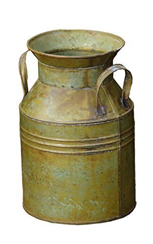 Your Hearts Delight Antique Green Milk Can, 6 x 6 x 9