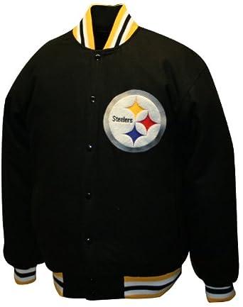 NFL Mens Pittsburgh Steelers Dual Edge Reversible Wool Jacket by MTC Marketing, Inc