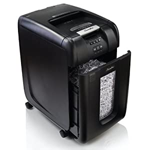 Swingline Paper Shredder, Stack-and-Shred 300X Hands Free, Super Cross-Cut, 300 Sheets, 5-10 Users (1757576)