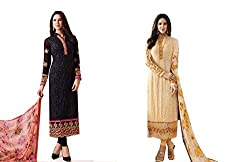 Hriday Selections Women's cotton dress material- pack of 2