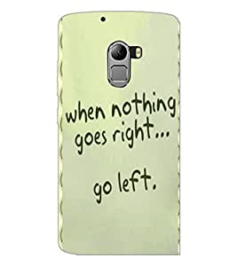 PrintDhaba Quote D-4453 Back Case Cover for LENOVO VIBE X3 LITE (Multi-Coloured)
