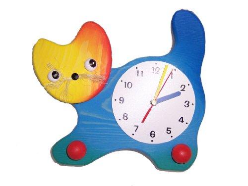 Wanduhr Uhr Holz Kinder Kinderzimmer Kinderuhr ~ Standuhr Uhr Holz Kinder Kinderzimmer Kinderuhr Katze Tier Kinderland