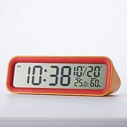 Mondo Digital Alarm Clock Orange