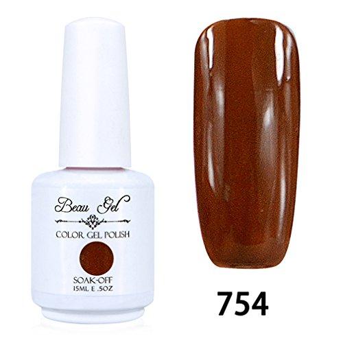 Beau Gel Vernis A Ongles Gel UV Soak Off Base Top Nail Art Semi-Permanent Manucure 15ml 754