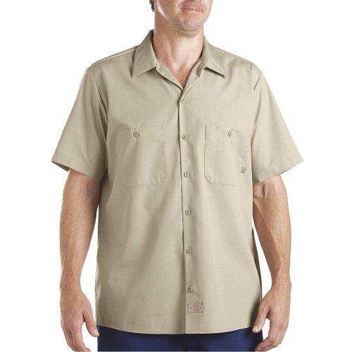 Dickies - - LS535 - camicia a maniche corte lavoro industriale, X-Tall, Desert Sand