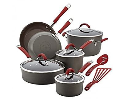 Rachael Ray Cucina Hard-Anodized Nonstick 12-Piece Cookware Set