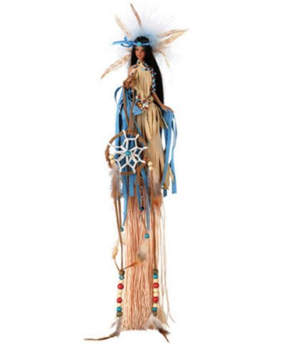 Buy MINDA 15″ Polyresin Tassel Native American Doll