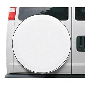 New Classic Spare Tire Cover for RVs, Vans, or Trucks- Model 8 White